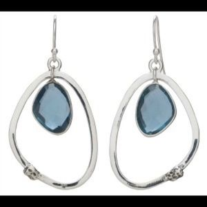 Grace and Heart Azul Sterling Silver Earrings